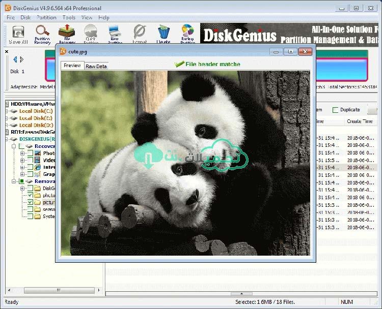 تحميل برنامج DiskGenius Professional كامل للكمبيوتر